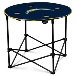 Los Angeles Chargers NFL Round Folding Picnic Table Football