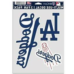 LOS ANGELES DODGERS 3 PIECE MULTI-USE DECAL FAN PACK MLB LIC