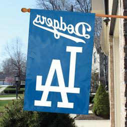Party Animal Los Angeles Dodgers Applique House Flag