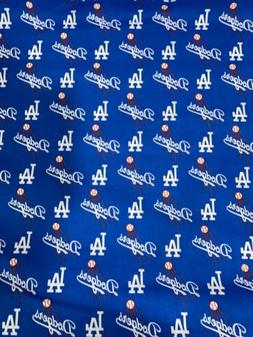 Los Angeles Dodgers Fabric 1/4 Yard X58inches  Cotton