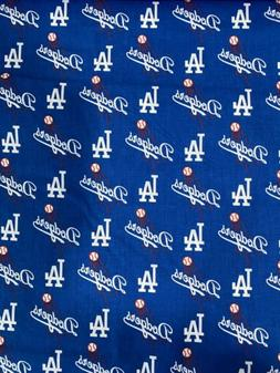 Los Angeles Dodgers Fabric 1/4 Yard X 58 Inches Cotton