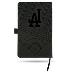 Los Angeles Dodgers Laser Engraved Small Notepad - Black