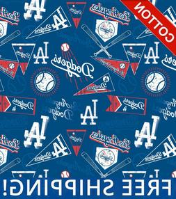 los angeles dodgers mlb cotton fabric 58