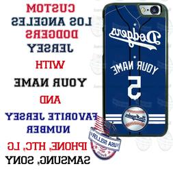 Los Angeles Dodgers Personalize BLU Baseball Phone Case Cove