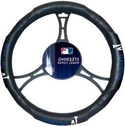 Los Angeles Dodgers Premium Rubber Grip Black Steering Wheel