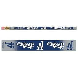 LOS ANGELES DODGERS TEAM LOGO 6-PACK PENCILS BRAND NEW WINCR