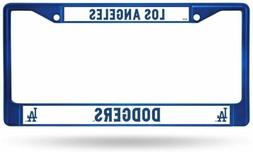 Los Angeles LA Dodgers Blue Metal License Plate Frame Auto T