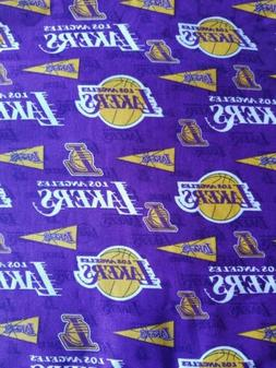 Los Angeles Lakers 100% cotton fabric. 1/4 yard