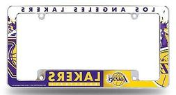 Los Angeles Lakers EZ View All Over Chrome Frame Metal Licen