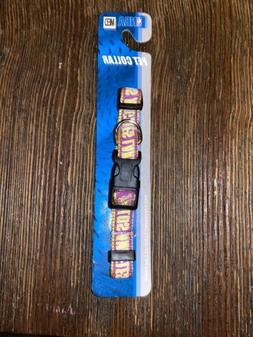 Los Angeles Lakers Pet Collar by Pets First - Medium