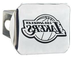 Los Angeles Lakers Premium Metal Chrome Hitch Cover Bumper T