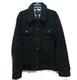 los angeles mens black sherpa coat jacket
