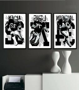 LOS ANGELES RAIDERS art print/poster FAN PACK #1 3 PRINTS! O