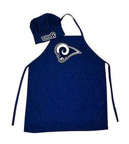 Los Angeles Rams NFL BBQ Apron & Chef's Hat 2pc Set Game Day