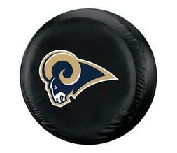 Los Angeles Rams Tire Cover Standard Size Black Special Orde