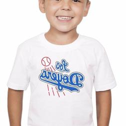LOS DOYERS Los Angeles Dodgers White Shirt for Toddler Kid C