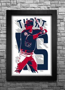MIKE TROUT art print/poster LOS ANGELES ANGELS FREE S&H! JER