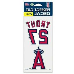 MIKE TROUT LOS ANGELES ANGELS 2 PIECE PERFECT CUT DECAL SHEE