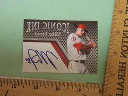 MIKE TROUT - LOS ANGELES ANGELS - ICONIC INK AUTOGRAPH CARD