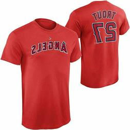 Mike Trout Los Angeles Angels T-Shirt #27 MLB Boys Youth Red