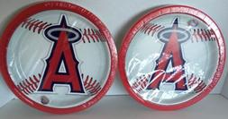 "MLB Anaheim Angels baseball 9"" Paper Plates  2 Packs of 18ct"