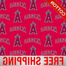 mlb cotton los angeles angels fabric by