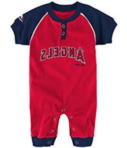 """Majestic MLB Infant Los Angeles Angels """"Game Time"""" Coverall"""