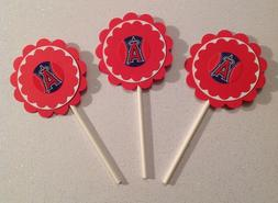 Mlb Los Angeles Angels Cupcake Toppers Birthday Anniv Party