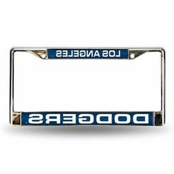 MLB Los Angeles Dodgers Laser-Cut Chrome Auto License Plate