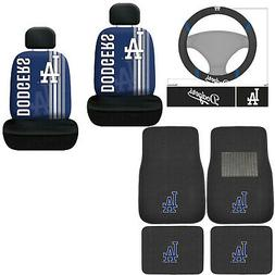 New 9PC MLB Los Angeles Dodgers Floor Mats Seat Covers Steer