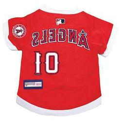 NEW LOS ANGELES ANGELS PET DOG PREMIUM MLB JERSEY w/NAME TAG