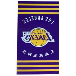 NEW Los Angeles Lakers Basketball Team Licensed Stripes Beac