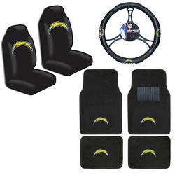 NFL Los Angeles Chargers Car Truck Seat Covers Floor Mats St