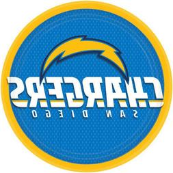 NFL LOS ANGELES CHARGERS LARGE PAPER PLATES  ~ Birthday Part