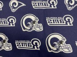 NFL  Los Angeles Rams 100% Cotton FABRIC  BY THE 1/4 YARD 9x
