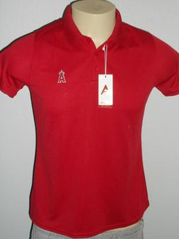 NWT! ANTIGUA LOS ANGELES ANGELS RED TEAM MLB GOLF POLO SHIRT