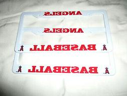 TWO  ANAHEIM ANGELS  EMBOSSED LICENSE PLATE FRAMES #4 - NEW